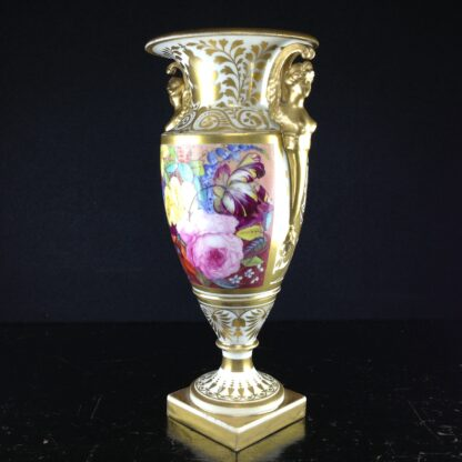 Davenport vase, winged handles & flower painting, c. 1825 -2776