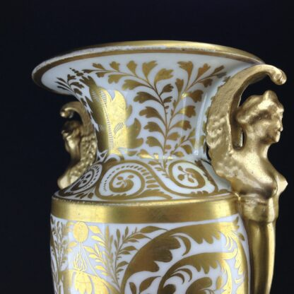 Davenport vase, winged handles & flower painting, c. 1825 -2777