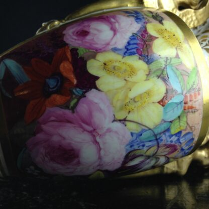 Davenport vase, winged handles & flower painting, c. 1825 -2782