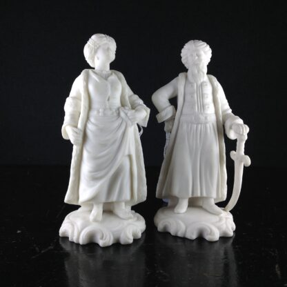 Pair Minton figures of Turks, 1857 -0