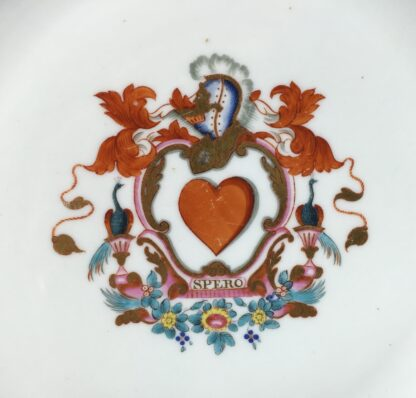 English armorial plate, 'SPERO' motto, attributed to Wolfe & Co, C.1805 -13177
