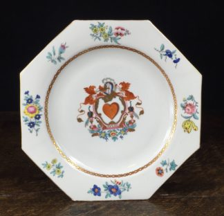 English armorial plate, 'SPERO' motto, attributed to Wolfe & Co, C.1805 -0