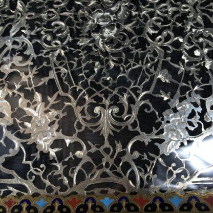 Elaborate champleve & silver fret blotter , c.1870-13190