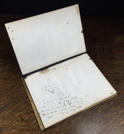 Elaborate champleve & silver fret blotter , c.1870-13192