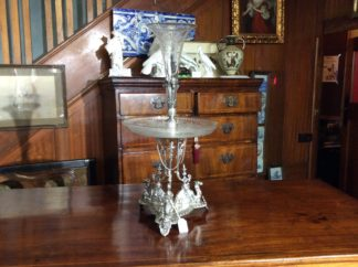 Victorian Glass table centre piece, c.1878. -0