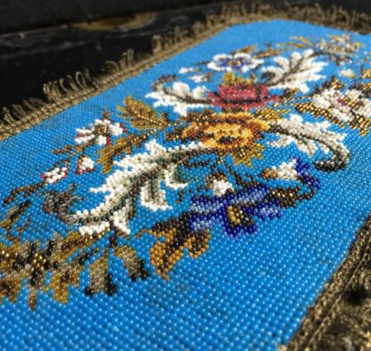 Victorian beadwork sample, c.1860 -10706