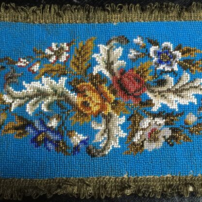 Victorian beadwork sample, c.1860 -10707