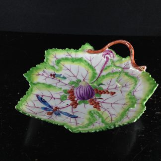 Bow leaf shape dish, fruit & bugs decoration, c.1770 -0