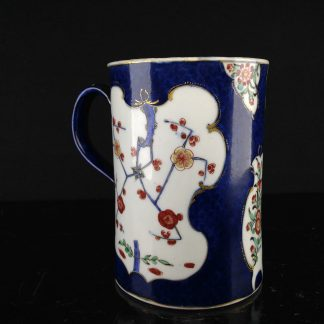 Worcester tankard, scale blue with Japanese flowers, c.1770 -0