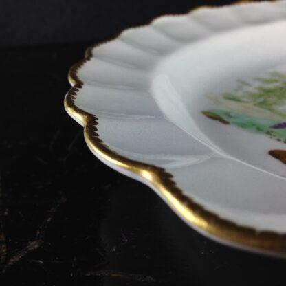 Worcester scalloped rim cabinet plate, exotic birds, Davis, c.1780 -3452