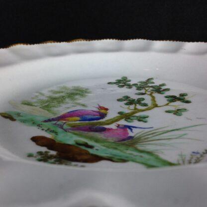 Worcester scalloped rim cabinet plate, exotic birds, Davis, c.1780 -3453