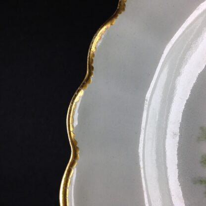 Worcester scalloped rim cabinet plate, exotic birds, Davis, c.1780 -3454