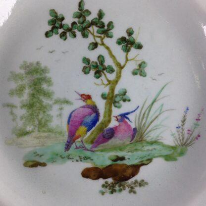 Worcester scalloped rim cabinet plate, exotic birds, Davis, c.1780 -3457