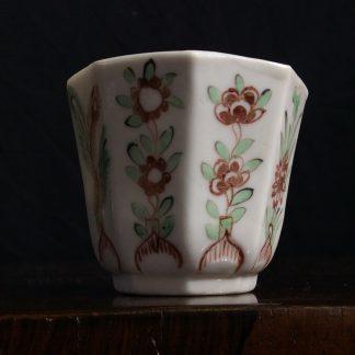Chinese octagonal beaker, London decorated C. 1720 -0