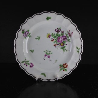 Worcester plate with flowers, ex- Zorensky Collection C. 1765 -0