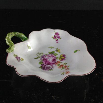 Longton Hall leaf dish, 'trembly rose' flowers, C. 1760 -3840