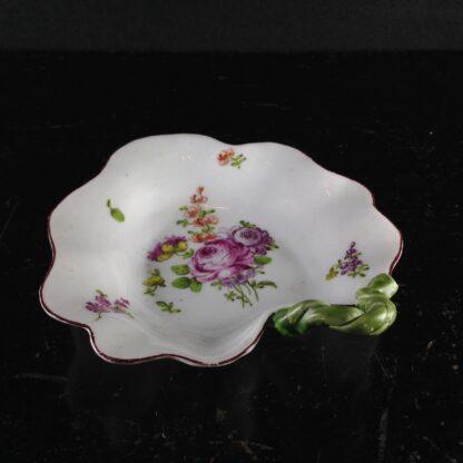 Longton Hall leaf dish, 'trembly rose' flowers, C. 1760 -3843