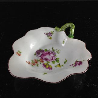 Longton Hall leaf dish, 'trembly rose' flowers, C. 1760 -0