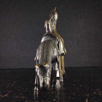 Japanese bronze sage on horse, Meiji period -3956