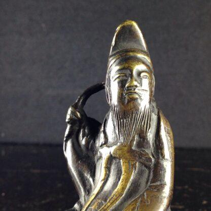 Japanese bronze sage on horse, Meiji period -3962