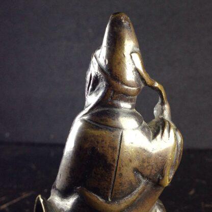 Japanese bronze sage on horse, Meiji period -3964