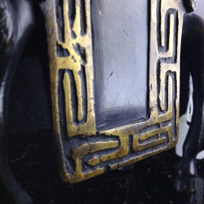 Japanese bronze sage on horse, Meiji period -3965