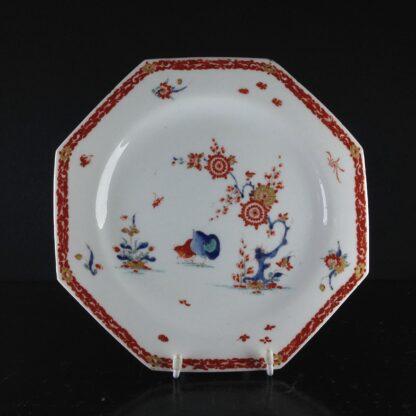 Bow octagonal plate, Kakiemon Quail pattern,C. 1765 -0