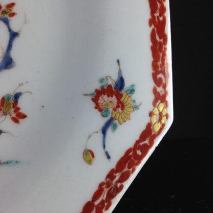 Bow octagonal plate, Kakiemon Quail pattern,C. 1765 -4200