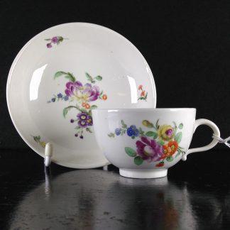 Rare The Hague (Dutch) decorated porcelain cup & saucer, c.1780 -0