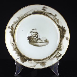 Coalport plate, London decorated by Charles Muss, c. 1810 -0