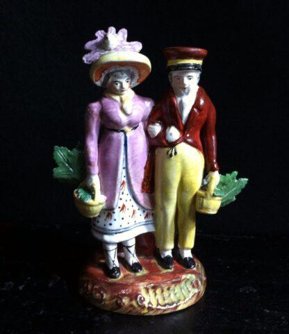 Staffordshire group, fashionable couple, circa 1820 -0