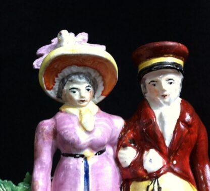 Staffordshire group, fashionable couple, circa 1820 -10909