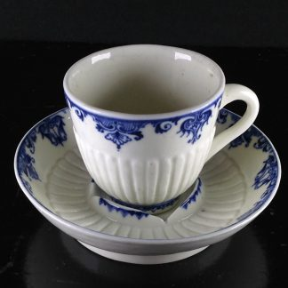 Saint-Cloud trembleuse cup & saucer, rare N mark, c.1725 -0