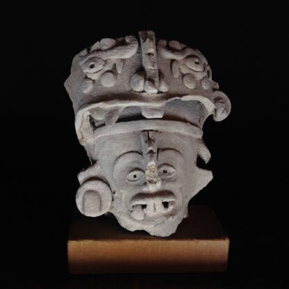Pre-Columbian Jaguar mask fragment, Veracruz, 300-900 AD -0