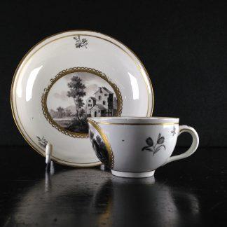 Frankenthal teacup & saucer, C. 1765 -0