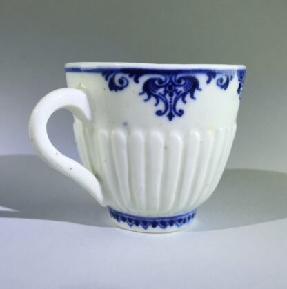 Saint-Cloud trembleuse cup & saucer, rare N mark, c.1725 -8261