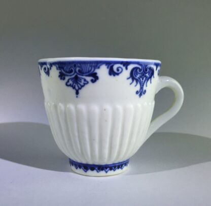 Saint-Cloud trembleuse cup & saucer, rare N mark, c.1725 -8263