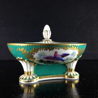 Sevres triple salt, Randall bird decoration, 18th/19th century -0