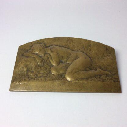 Desvignes, Louis - Bronze plaque - female nude - c. 1920 -5783