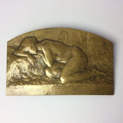 Desvignes, Louis - Bronze plaque - female nude - c. 1920 -5784