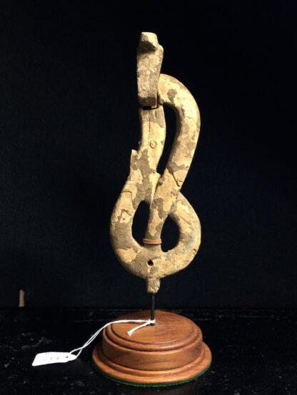 Egyptian wooden Uraeus - cobra - late period, c. 300 BC -0