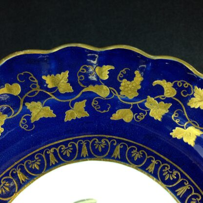Worcester plate, decorated in the Giles studio with urn & rich gilding, c.1775 -1323