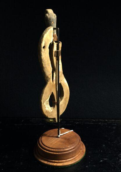 Egyptian wooden Uraeus - cobra - late period, c. 300 BC -10498