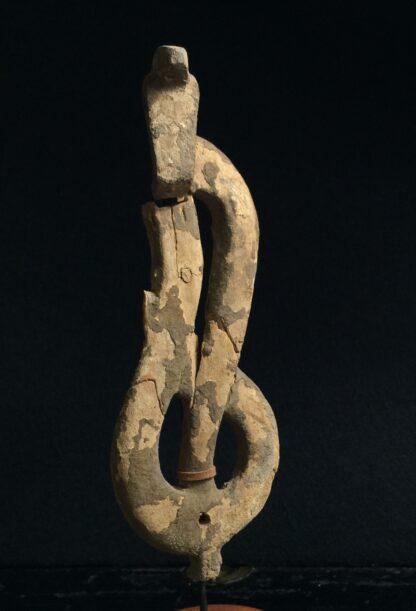 Egyptian wooden Uraeus - cobra - late period, c. 300 BC -10499