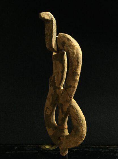 Egyptian wooden Uraeus - cobra - late period, c. 300 BC -10500