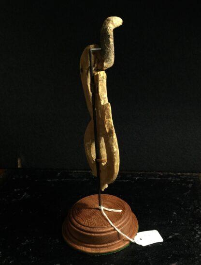 Egyptian wooden Uraeus - cobra - late period, c. 300 BC -10501