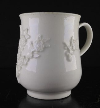 Bow bell shape mug, rose flower sprigging, c.1755 -0