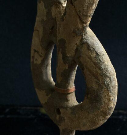 Egyptian wooden Uraeus - cobra - late period, c. 300 BC -10503