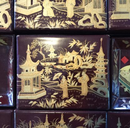 Chinese lacquer games box, fitted interior, c.1830 -9360