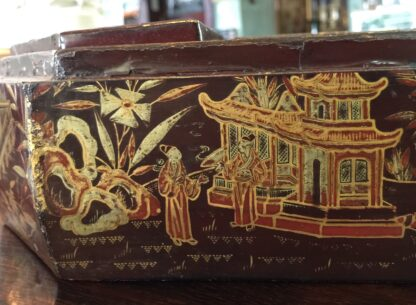 Chinese lacquer games box, fitted interior, c.1830 -9365